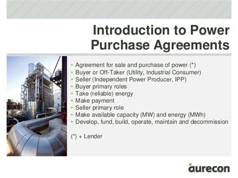 power purchase agreement technical considerations for power purchase agreements