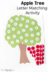 tree template for preschool letter matching apple tree activity with printable