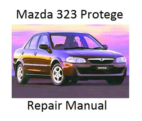 1993 mazda 323 and protege repair shop manual original mazda 323 protege bj 8th generation repair manual