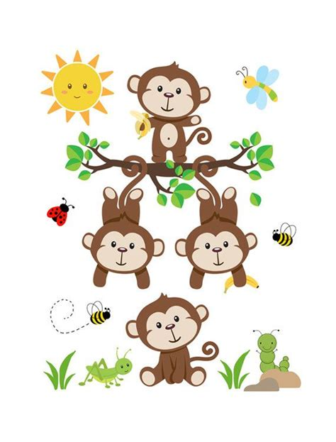 295 best monkey wall decor images on