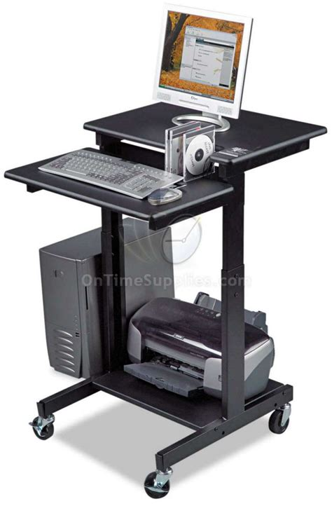 computer stand up desk blt85052 standing computer workstation desk by balt