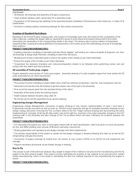 Catia V5 Designer Sle Resume by Resume