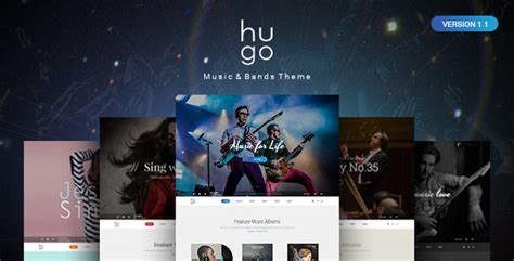 themes of hugo hugo music bands psd theme by dzoan themeforest