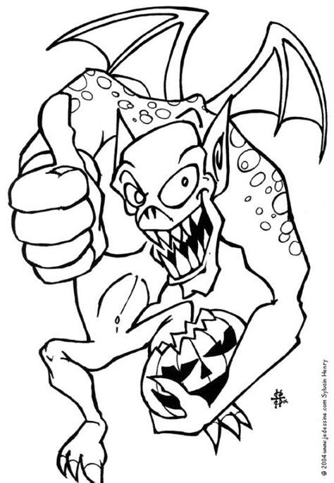 imagenes monstruos halloween dibujos para colorear el monstruo de halloween es