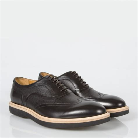 black oxford mens shoes paul smith s black calf leather truman oxford shoes