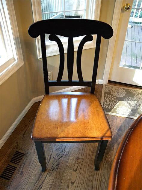 hometalk kitchen table chair makeover stain paint