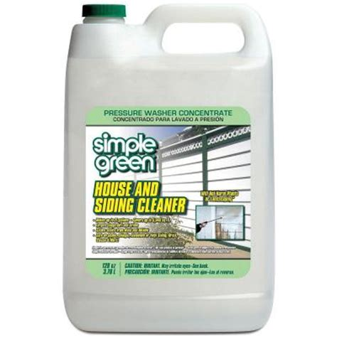 house and siding cleaner simple green 128 oz house and siding cleaner pressure washer concentrate