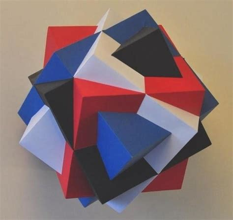 Simple Paper Crafts Cubes - papercraftsquare new paper craft compound of four