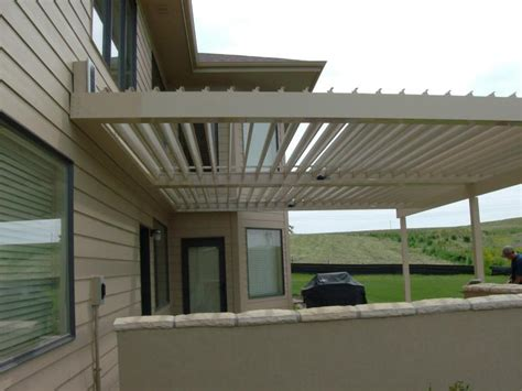 Louvered Roof Pergola Outdoor Goods Louvered Roof Pergola