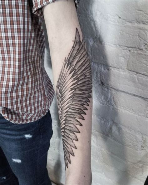 forearm wing tattoo best tattoo ideas gallery