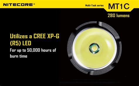 Senter Cree R5 nitecore mt1c senter led cree xp g r5 280 lumens black