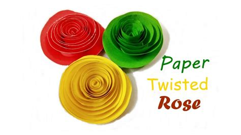 how to make paper quilling twisted rolled