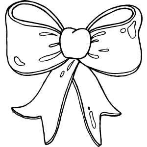 present bow coloring sheet
