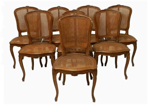 Caned Dining Chairs Set Of 8 Early C20th Louis Dining Chairs Bergere Caned Oak In From Tryst D Amour