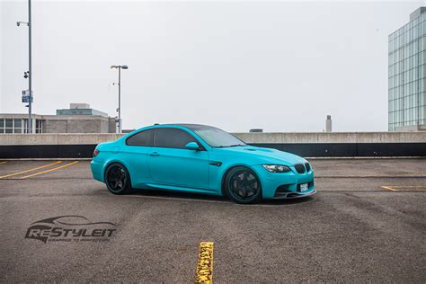 matte teal car matte teal bmw m3 vehicle customization shop vinyl car
