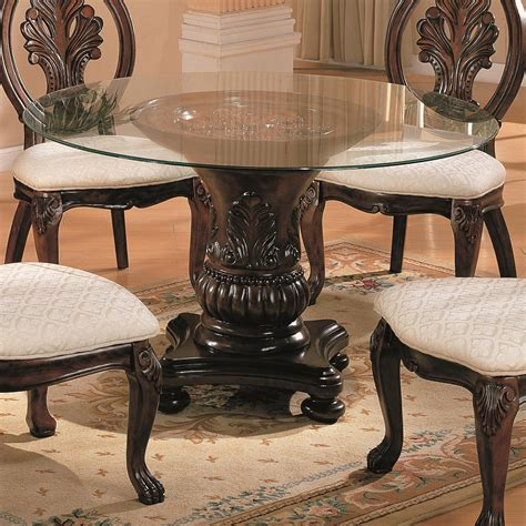 coaster glass dining table coaster 101030 cb48rd traditional dining