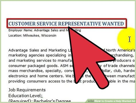 How To Create A Help Wanted Ad 5 Steps With Pictures Wikihow Help Wanted Ad Template