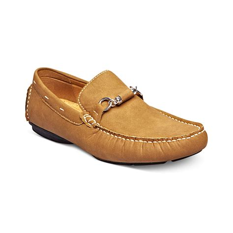 steve madden brown loafers lyst steve madden oak slipon bit loafers in brown for