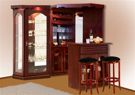 Corner Bar Cabinet Ideas Alluring Bar Unit Designs For Flats Small Spaces Irenovate