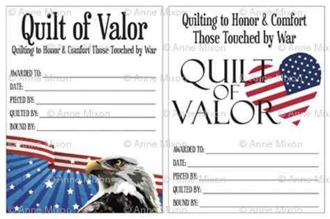 Quilts Of Valor Labels by Quilts Of Valor Small Labels Fabric Qov Labels Spoonflower