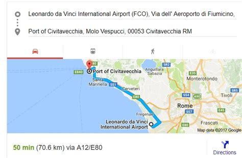 rome cruise port to airport how far is civitavecchia port from rome airport distance