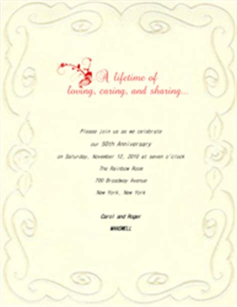 50th wedding anniversary invitations templates free free wedding anniversary templates clip and wording
