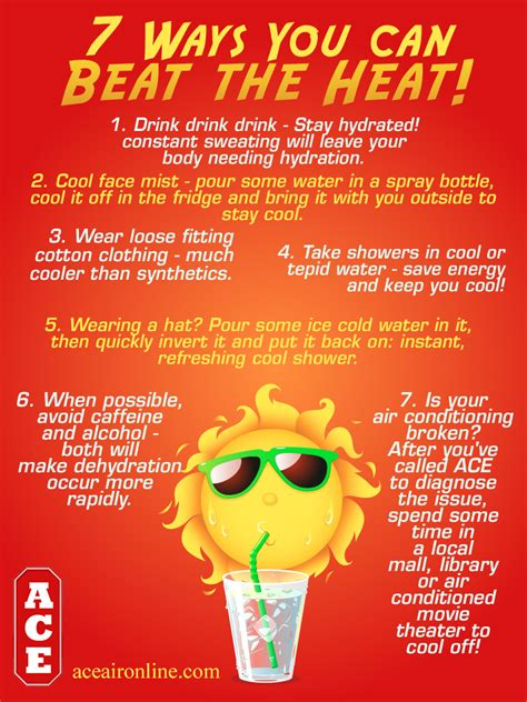 Ways To Keep Cool In The Heat by 7 Ways You Can Beat The Heat 171 Ace Air Conditioning