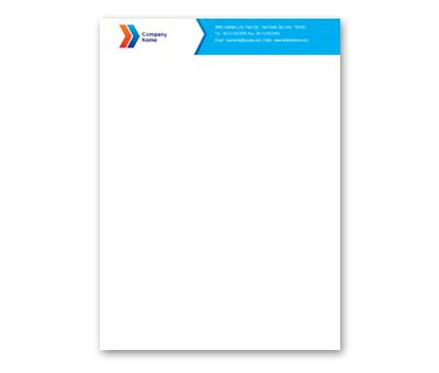 letterhead design for air travel company offset or digital