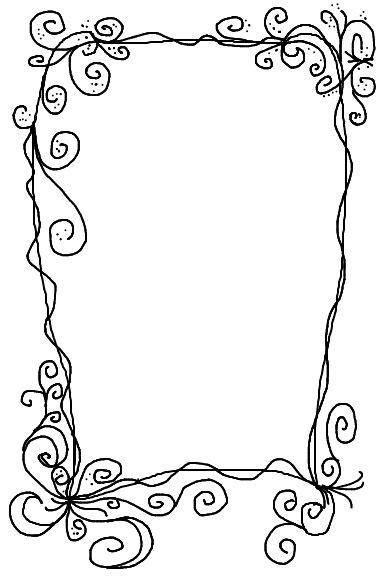pattern frame drawing doodle swirl border doodles drawing journaling