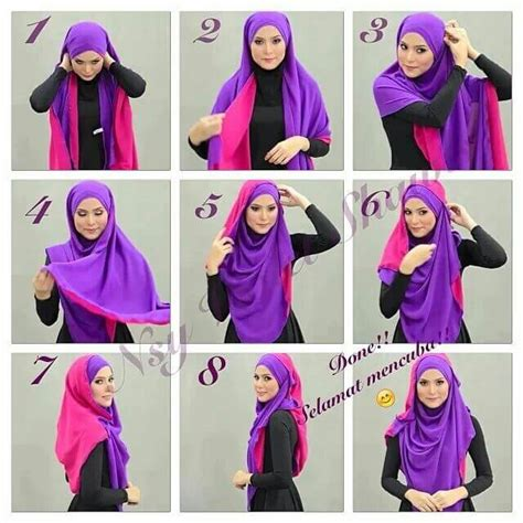 tutorial hijab syari menutup dada modern  terbaru