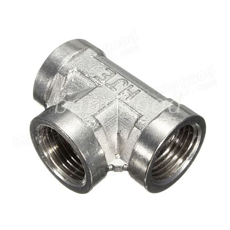 Steel Plumbing Fittings by 1 2 Inch Stainless Steel 304 3 Way Threaded Pipe