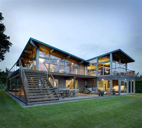 rustic contemporary homes far pond designed by bates masi architects keribrownhomes