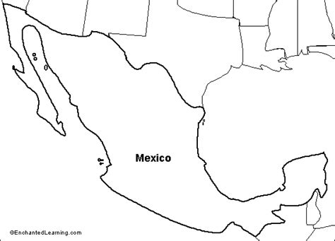 outline map of mexico and the us outline map research activity 1 mexico