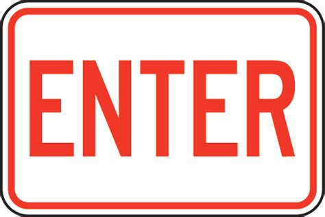 to enter enter signs clipart best