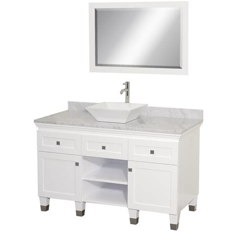White Vanities For Bathroom 48 Quot Premiere 48 White Bathroom Vanity Bathroom Vanities Bath Kitchen And Beyond