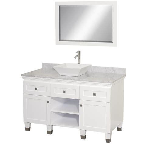 """48"""" Premiere 48 White Bathroom Vanity :: Bathroom Vanities"""