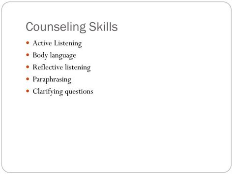 guidance counselor skills ppt the army process powerpoint presentation