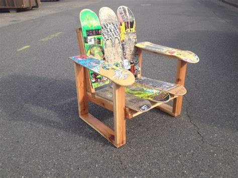 skateboard chairs 176 best images about skateboard recycled on pinterest