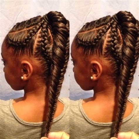 kids fishtail photo with hair added fishtail braid kids hairstyle black hair information