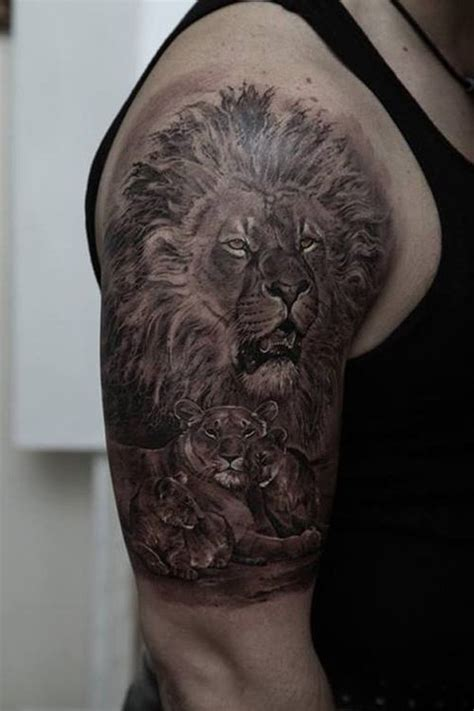 lion tattoo half sleeve 30 amazing and cub ideas 2018