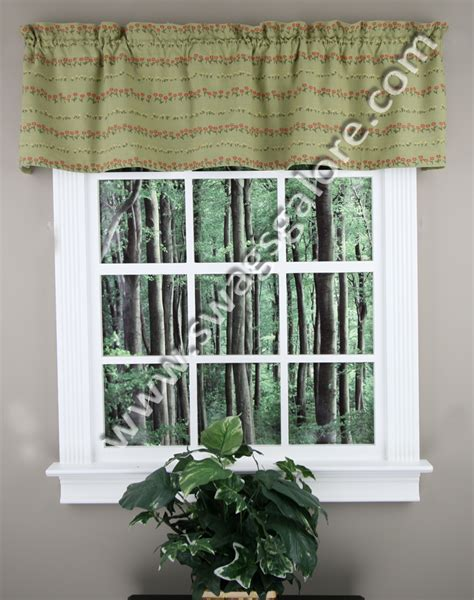 lined kitchen curtains posey lined valance multi park designs country