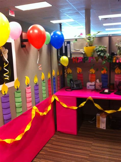 Birthday Decoration Ideas For Office Cubicles by 25 Best Ideas About Office Birthday On Office Birthday Decorations Cubicle