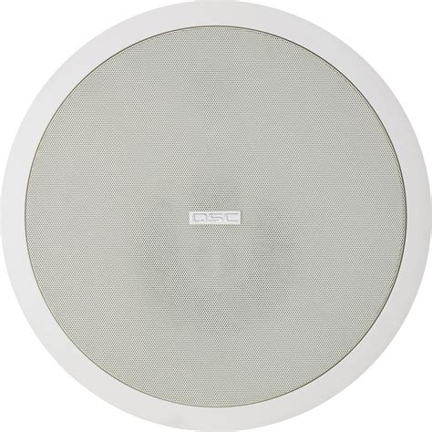 qsc shallow ceiling speaker pair ad ci52st wh b h photo video