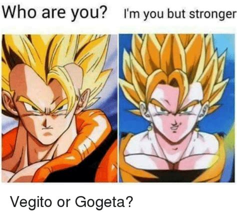 Who Are You Meme - who are you m you but stronger vegito or gogeta meme