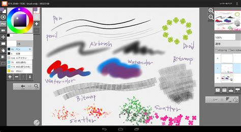 paint tool sai in android layerpaint hd play の android アプリ