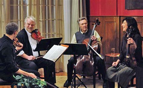 philip seymour hoffman string quartet top stars enter musical quartet stuff co nz
