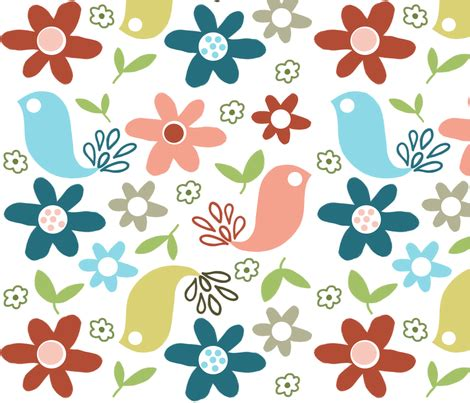 X By Cheerfull Shop cheerful birds fabric emilyb123 spoonflower