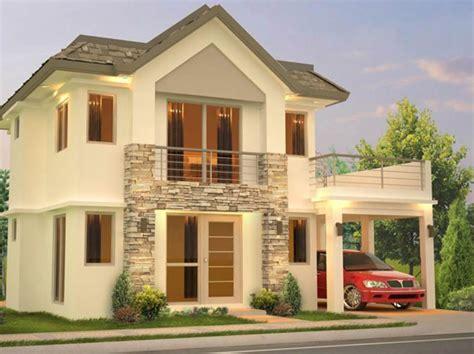 la casa 2 fachadas de casas de 2 pisos