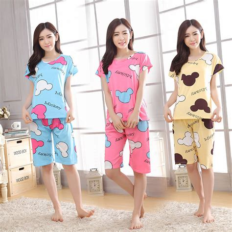 Home wear clothes for women summer shorts pajamas sets 90S