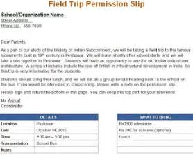 Field Trip Permission Letter by Field Trip Permission Letter For The Parents School Resources Templates And Sles Student